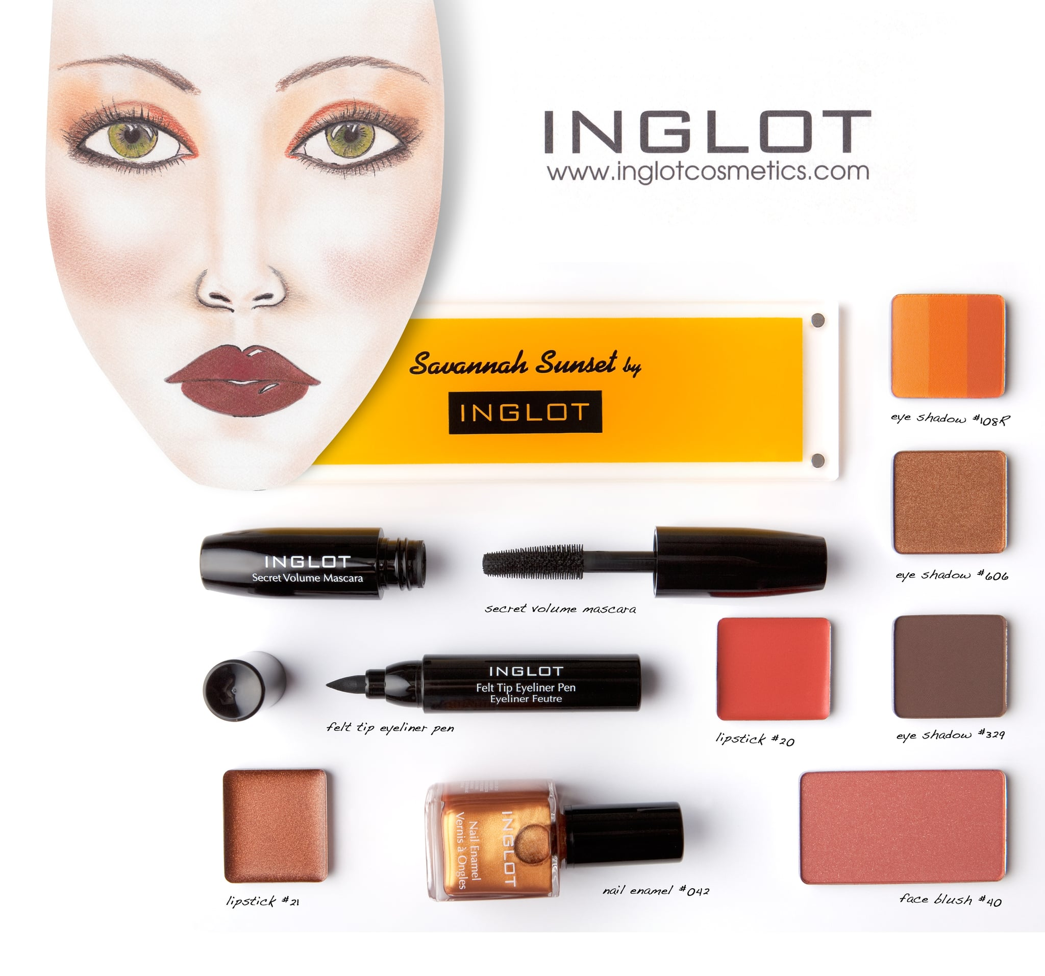 Inglot Savannah Sunset Collection