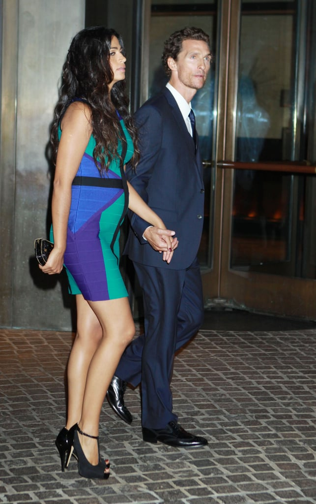 Matthew McConaughey and Camila Alves were hand in hand for a screening of Killer Joe in NYC.