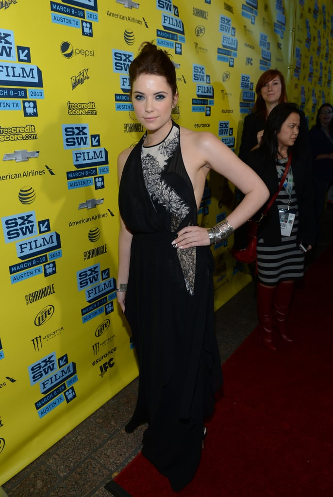 Ashley Benson went for a black gown at SXSW.