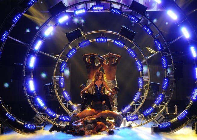 "J Lo performed ""Dance Again"" on American Idol. Photos courtesy of Fox/FX"