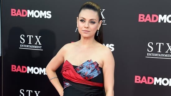 Pregnant Mila Kunis Rocks a '70s-Inspired Minidress, Shows Off Growing Baby Bump