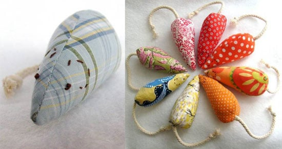Fabric Scraps Plus Catnip Equals One-of-a-Kind DIY Mice