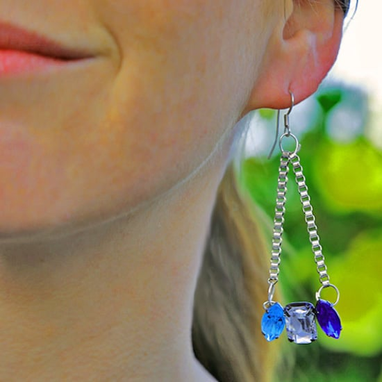 DIY: Dangly Crystal Earrings
