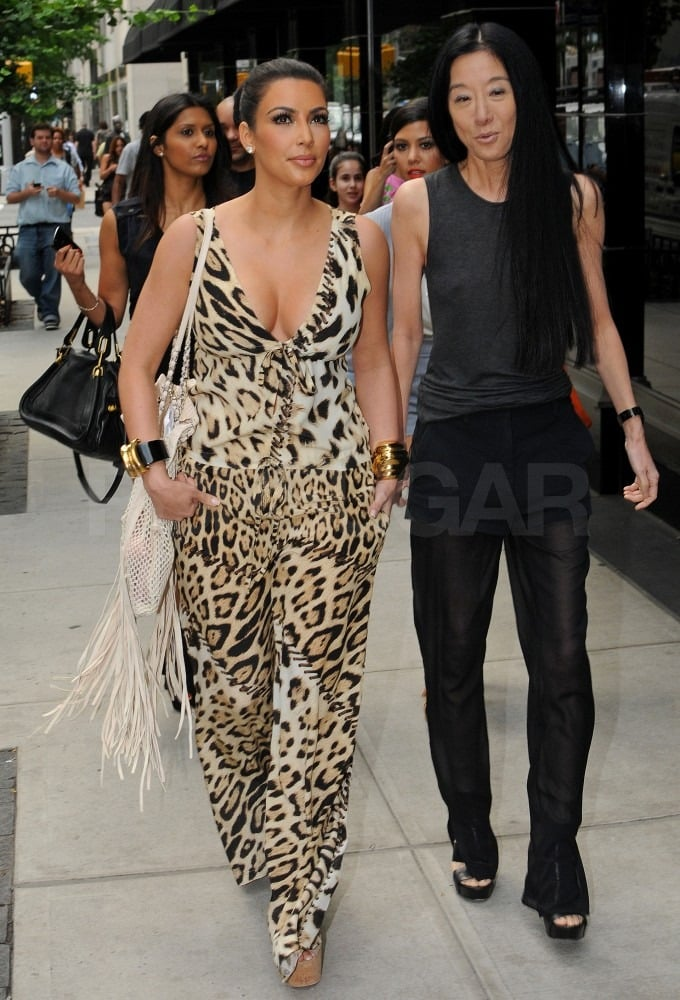 Kim Kardashian walked side-by-side with Vera Wang in NYC.