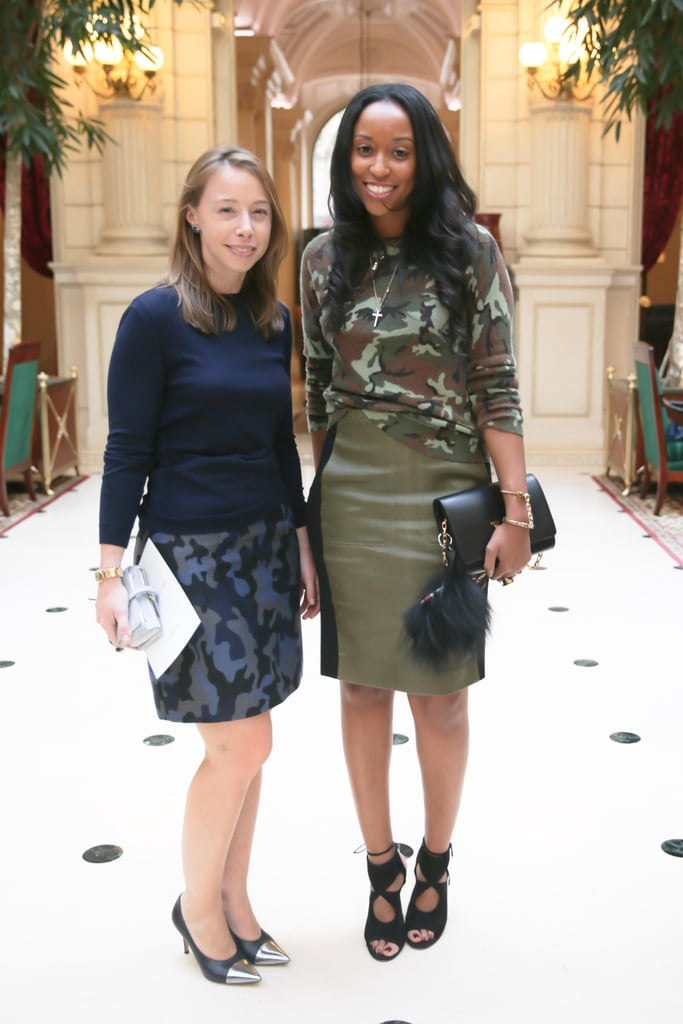 Rickie De Sole and Shiona Turini teamed up in prints at the Balmain runway show.
