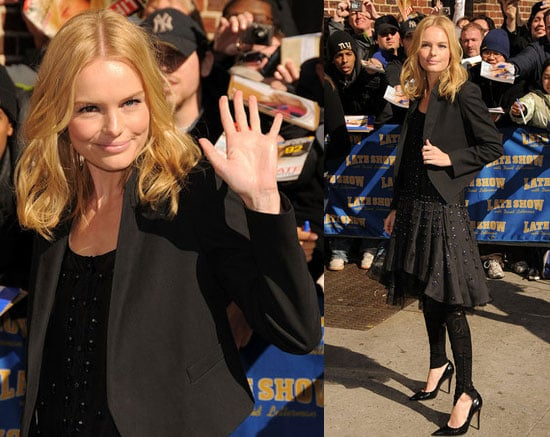 Kate Bosworth on Letterman