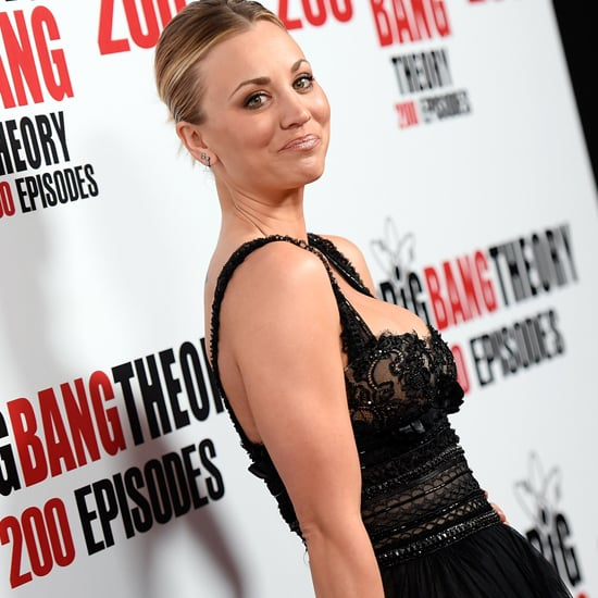 Kaley Cuoco Marchesa Dress on the Big Bang Theory Red Carpet
