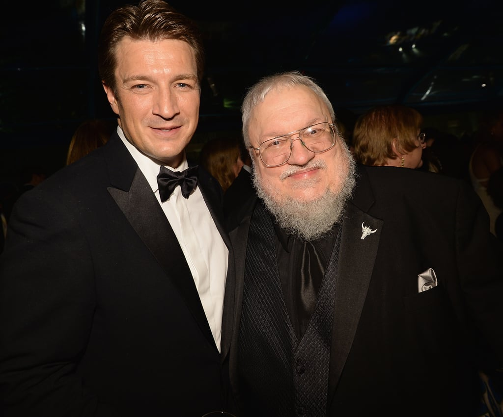 Castle's Nathan Fillion and Game of Thrones author George R. R. Martin shared a moment at HBO's afterparty.