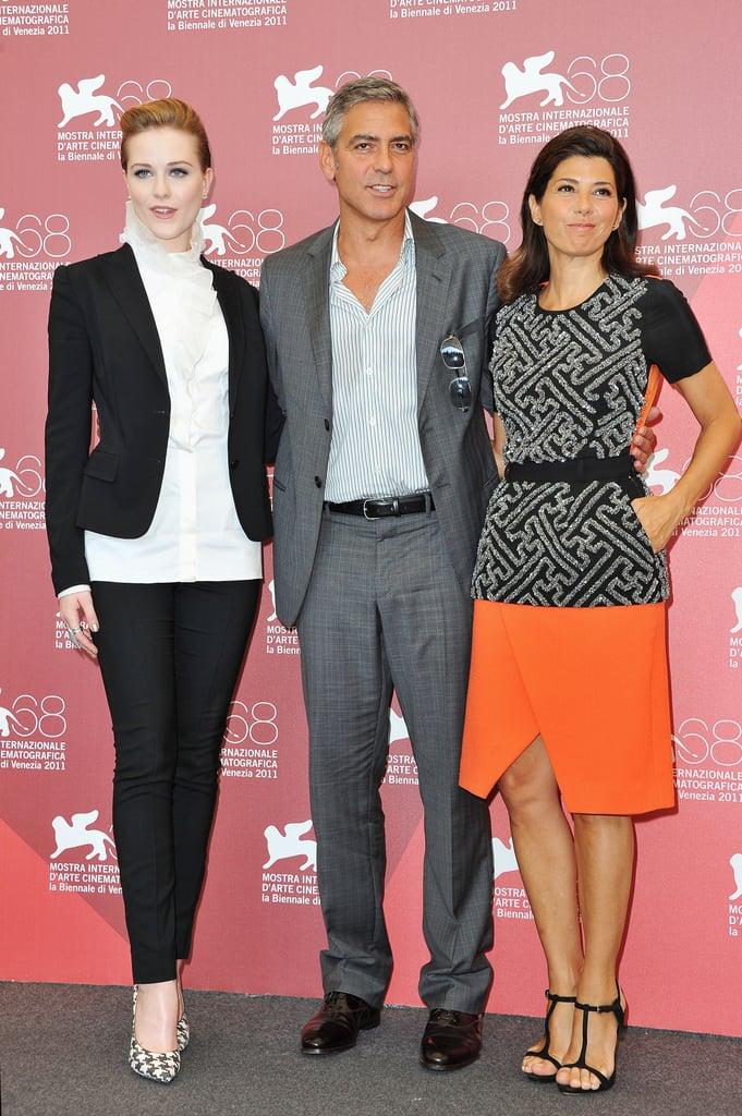 Marisa Tomei, George Clooney, and Evan Rachel Wood.