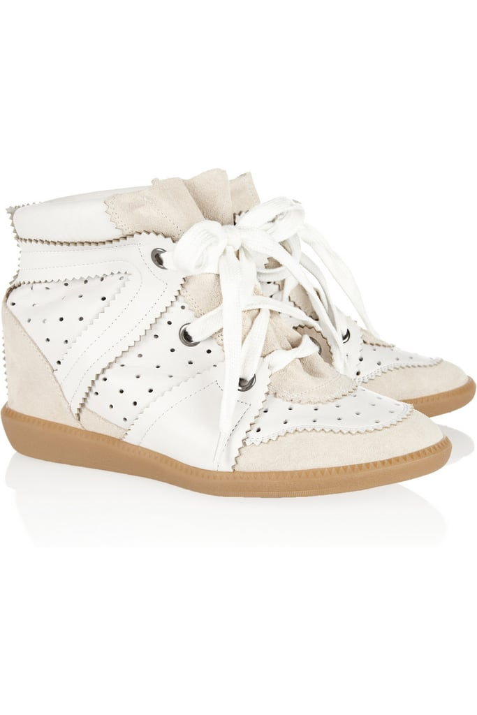 OK, I'm still not over the sneaker thing. This year, I really just want Santa (or someone really, really sweet) to bring me a pair of these Isabel Marant Betty Leather and Suede Wedge Sneakers ($665) — size 8, please! — Hannah Weil, associate editor