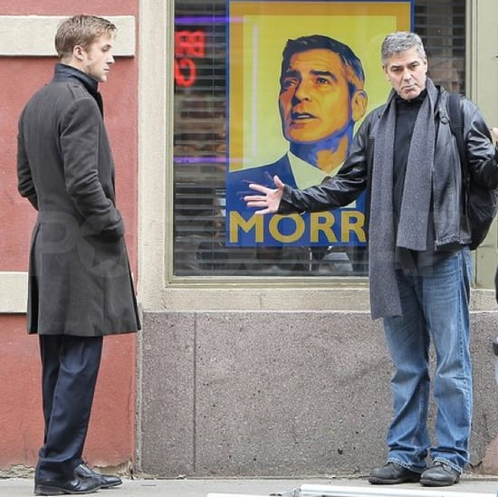 Pictures of Ryan Gosling and George Clooney on the Set of The Ides of March