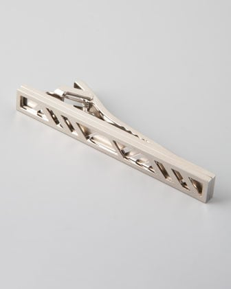 Burberry Cage-Check Tie Bar
