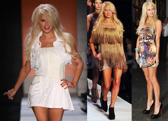 Pictures of Paris Hilton Walking During 2010 Sao Paulo Fashion Week