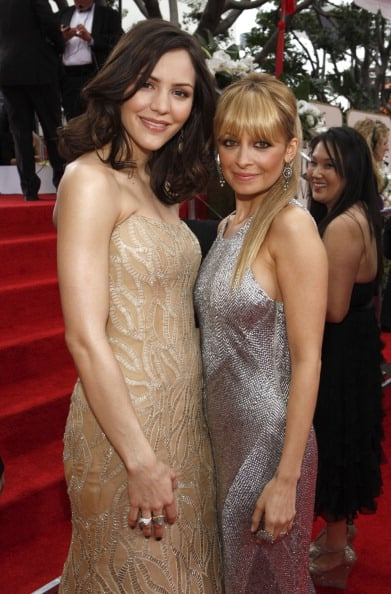 Nicole Richie and Katharine McPhee linked up at the Golden Globes in January.