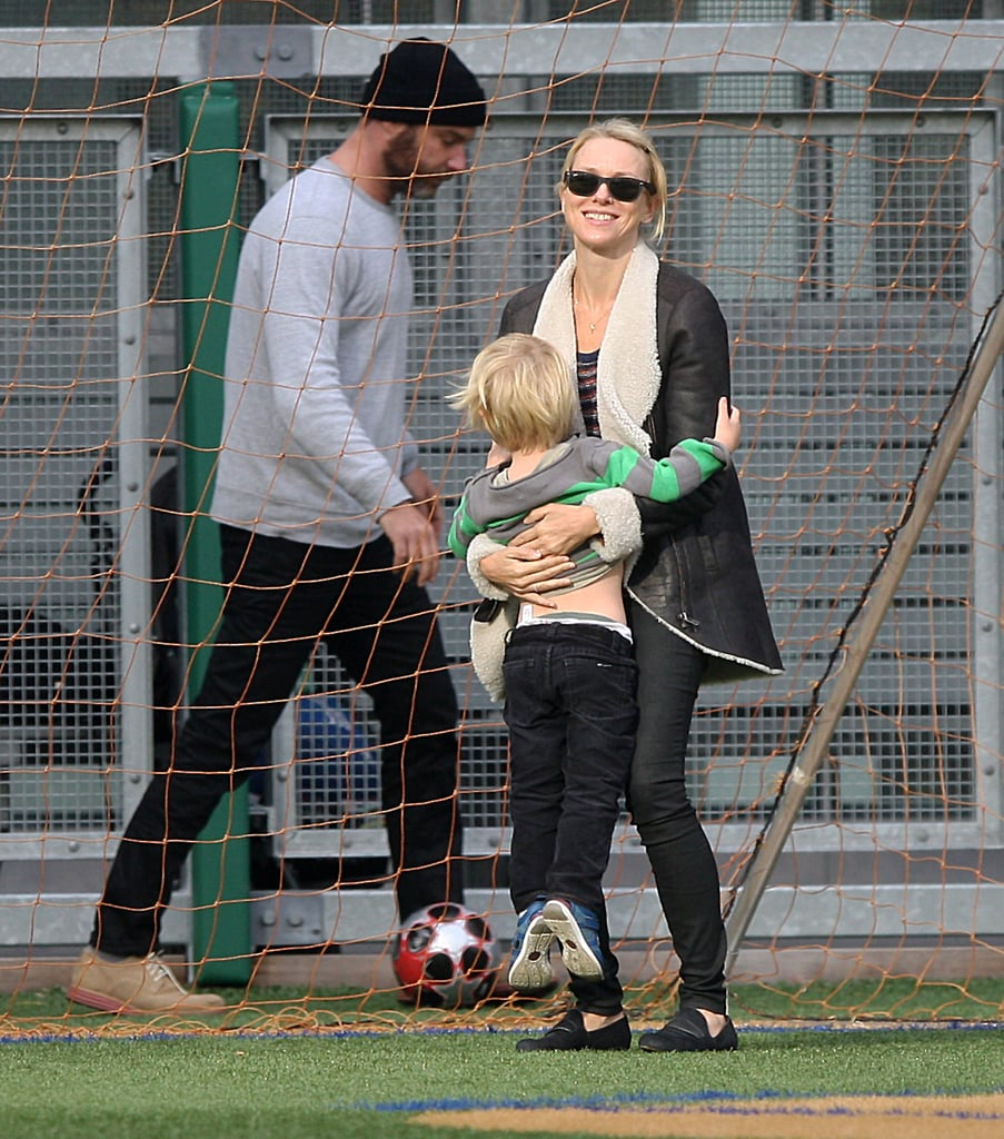 Naomi Watts Kicks It With Her Boys Liev and Kai