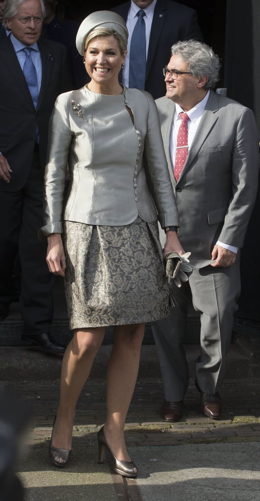 Queen Maxima wearing Natan at the 10-year anniversary of the Leeorkest in 2016.