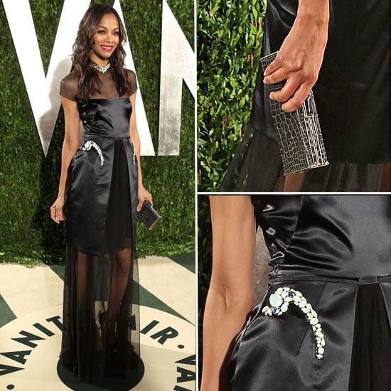 Zoe Saldana at Vanity Fair Oscars Party 2012