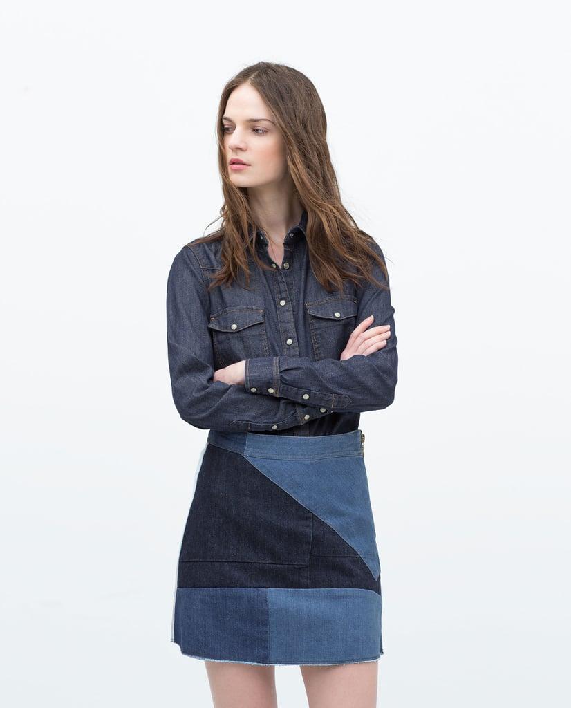 Zara Denim Miniskirt