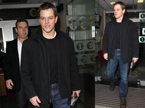 Photos of Matt Damon Outside BBC Radio One in London