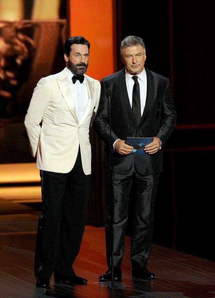 Jon Hamm and Alec Baldwin joked around at the Emmys.