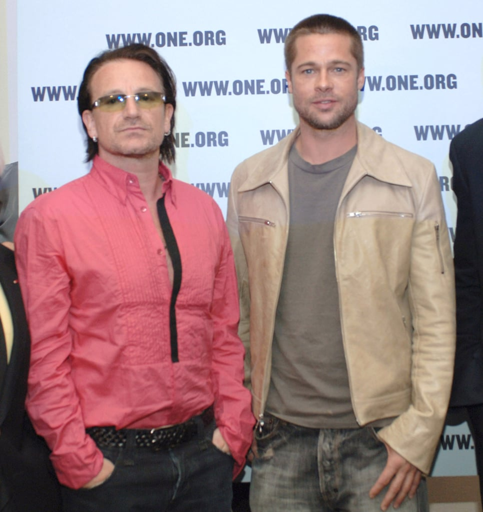 Brad Pitt and Angelina Jolie asked U2 frontman Bono to be the godfather of their twins, Vivienne and Knox.