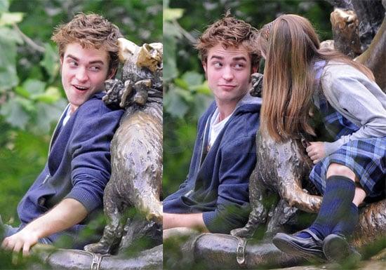 Photos of Robert Pattinson Filming Remember Me