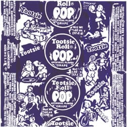 Todd Lim's Grape Tootsie Pop giclee print ($430) pays homage to a time-honored favorite, known as much for its nostalgic wrapper as for its chocolate-flavored, chewy interior.