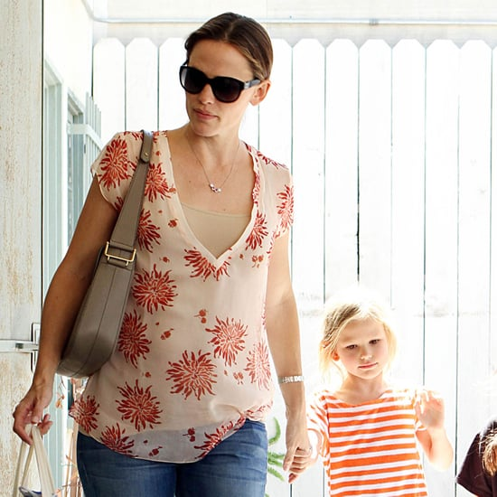 Pregnant Jennifer Garner With Violet in LA Pictures