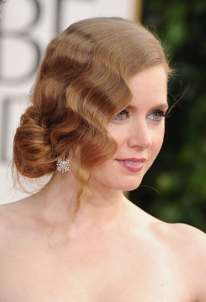 Amy Adams arrived at the Golden Globes with a gorgeous updo.
