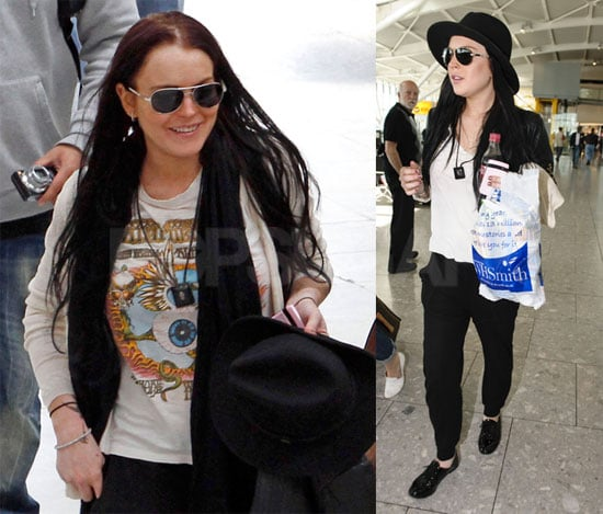 Pictures of Lindsay Lohan Returning from Cannes
