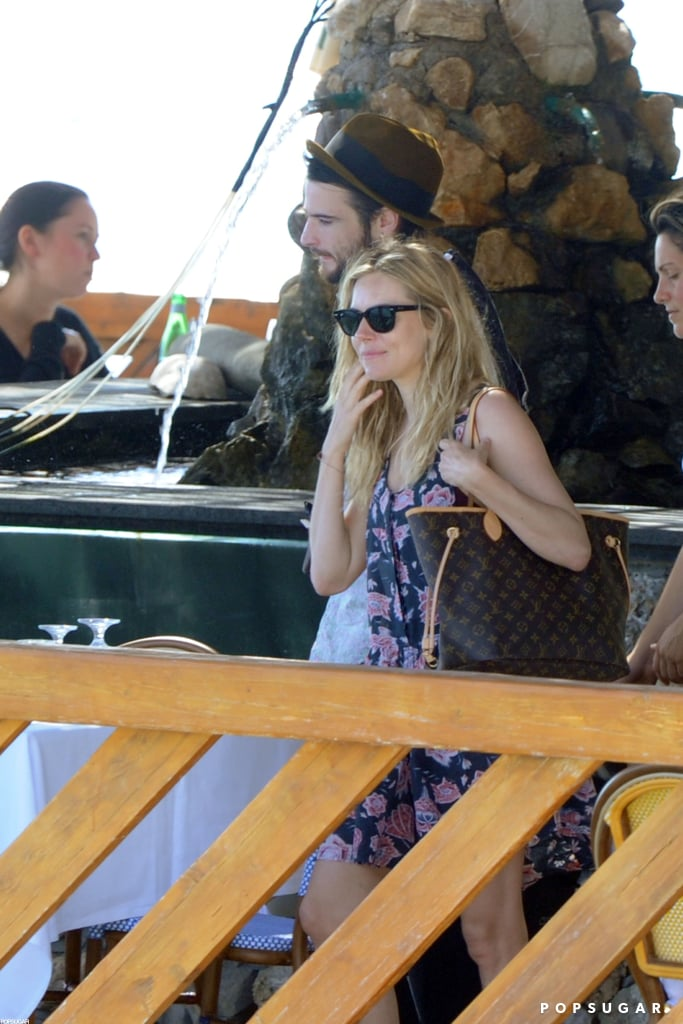 Tom Sturridge and Sienna Miller enjoyed a boat ride in Positano.