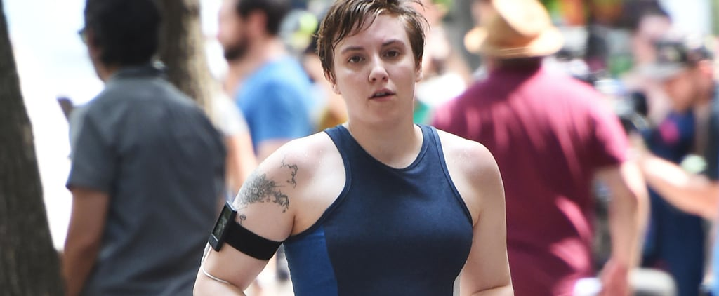 This Video of Lena Dunham Running Is All of Us