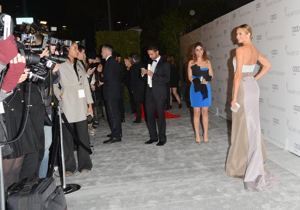 Stacy Keibler wore Carolina Herrera to The Art of Elysium's sixth annual Heaven gala.