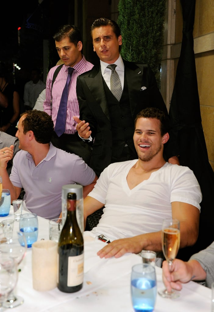 Kris Humphries hung out with his friends.