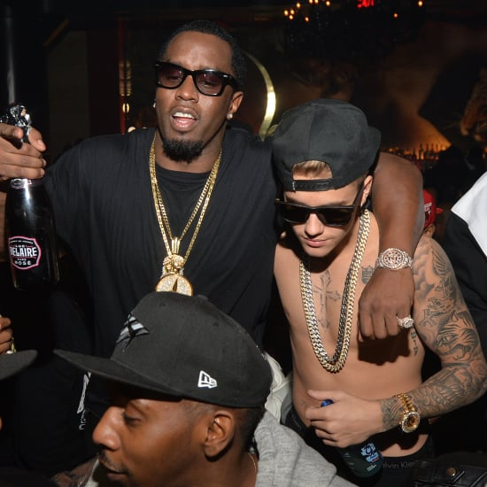 Shirtless Justin Bieber Partying With Diddy