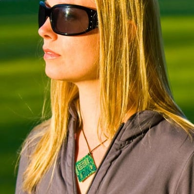 Circuit Board Necklace Takes a Bite Out of E-Waste