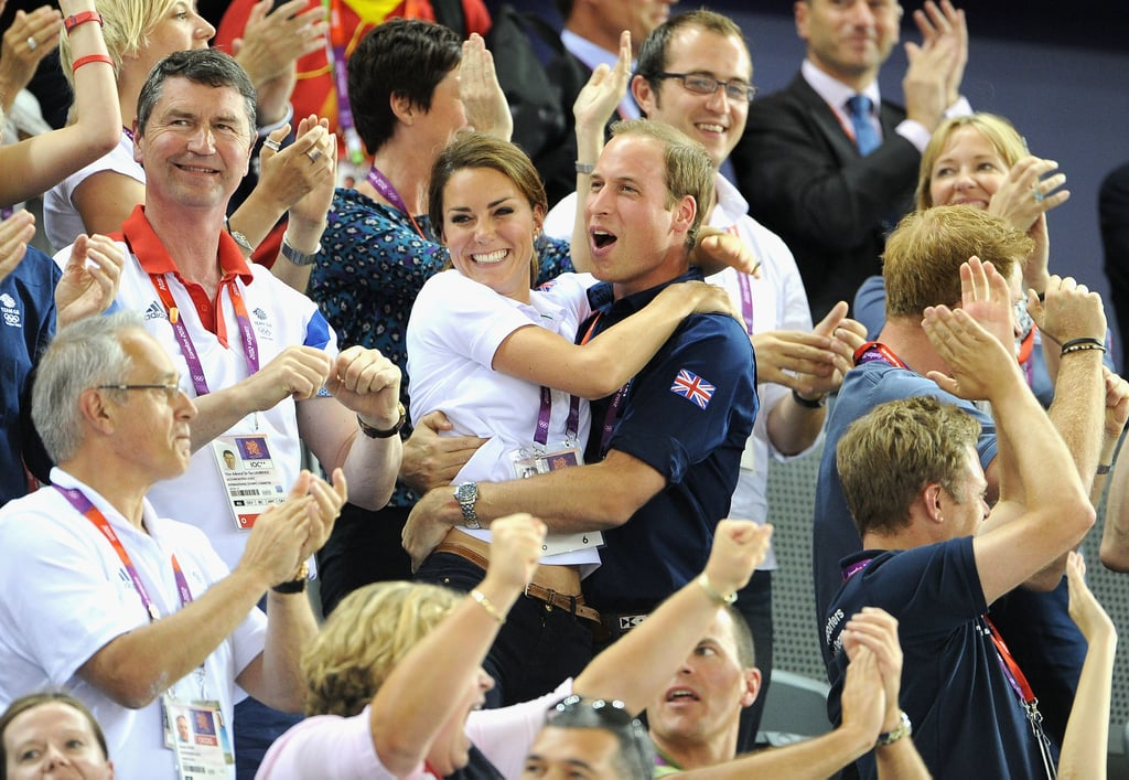 Kate and William were thrilled at a cycling event during the 2012 Olympics.