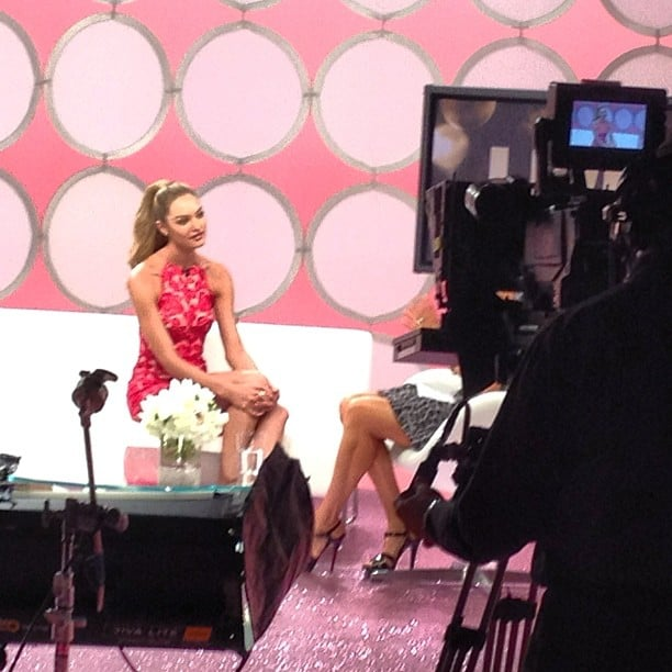 Candice Swanepoel sat down for an interview during the preshow.