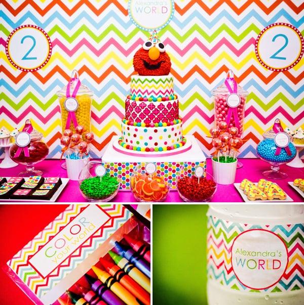A Girlie Elmo Birthday Party