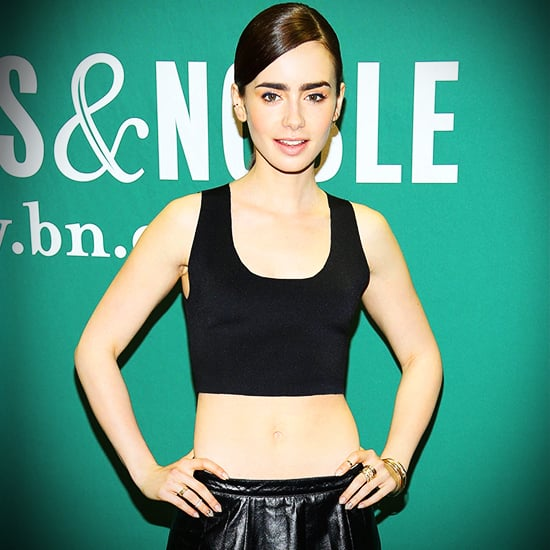 Lily Collins Crop Top Style   Video