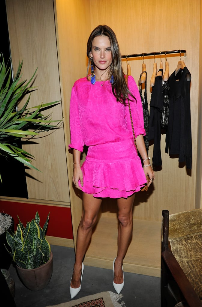 It wasn't just Alessandra Ambrosio's hue that was hot at Isabel Marant's barbecue.