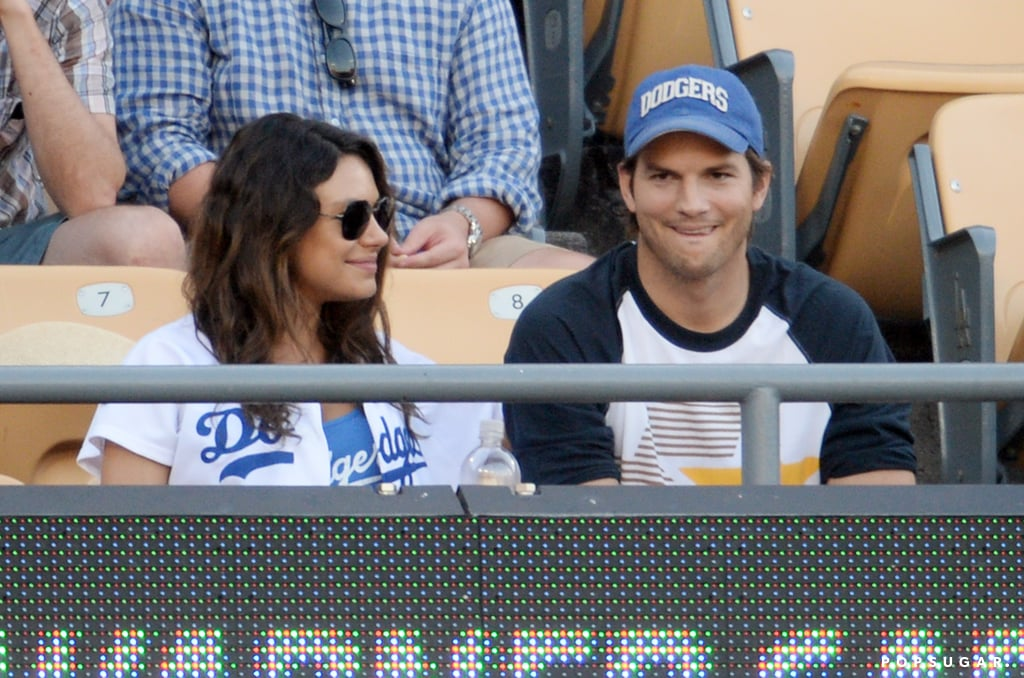 We'll Never Tire of Mila Kunis and Ashton Kutcher's Game Day PDA