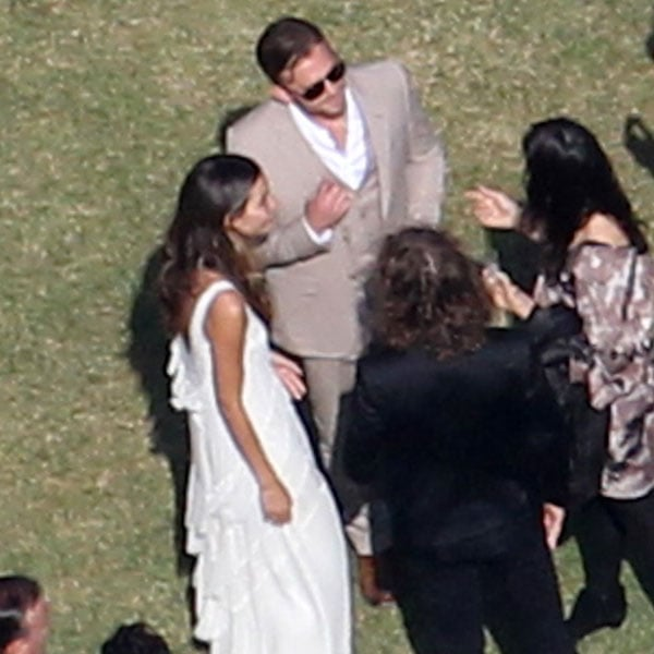 Caleb Followill and Victoria's Secret model Lily Aldridge went casual in a beige suit and a white tiered gown, respectively, while tying the knot in LA in May 2011.