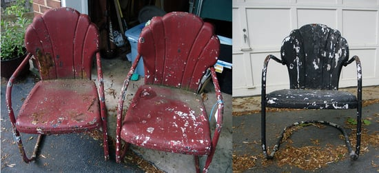 Before and After: A Little Paint Transforms These Lawn Chairs