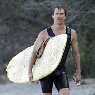 Matthew McConaughey Surfs in LA
