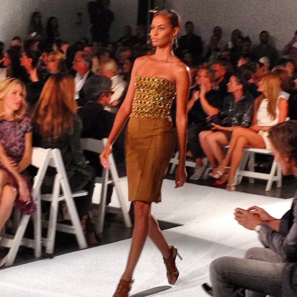 We loved this neutral yet shimmery look from Altuzarra.