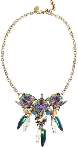 Erickson Beamon Aquarela Do Brasil gold-plated Swarovski crystal necklace