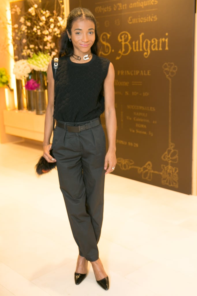 Genevieve Jones at Bulgari's amfAR breakfast.