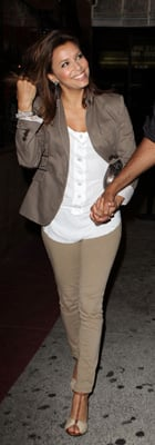 Eva Longoria Wears Khaki to Laugh Factory in LA