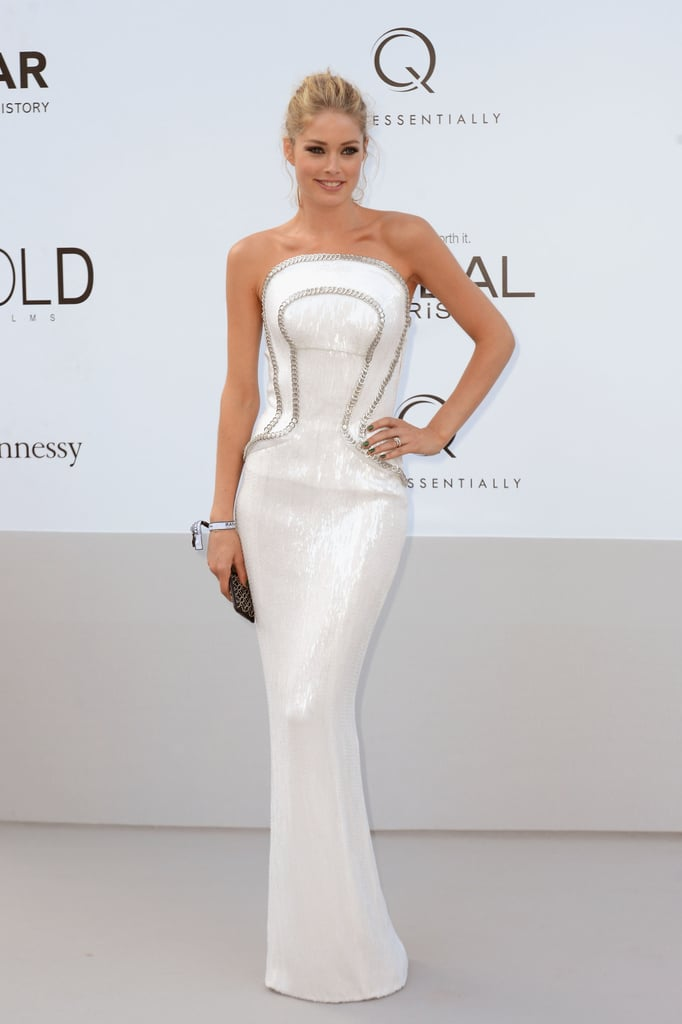 Doutzen Krous wore white to the amfAR Cinema Against AIDS gala.